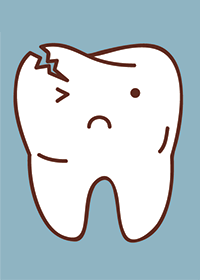 Illustration of a a cracked tooth in  Portland